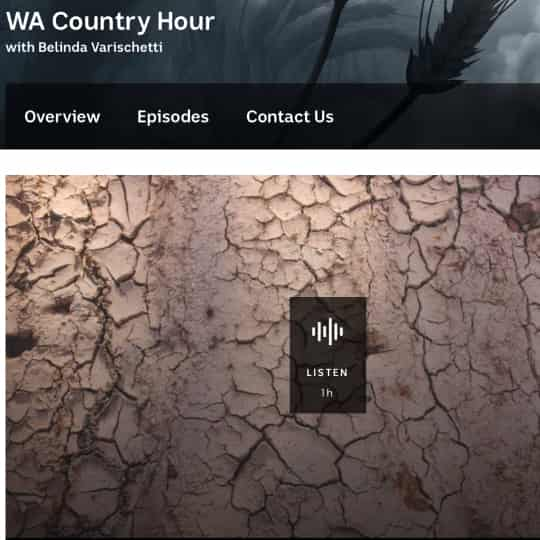 ABC Country Hour 29-08-2019